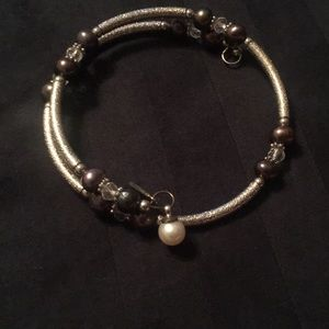 Vantel pearls wrap bracelet